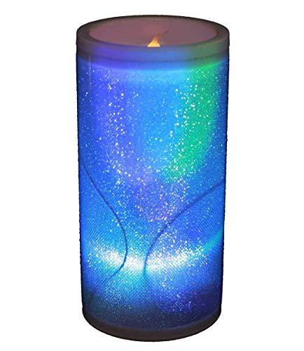 HAAC LED Kerze Ledkerze Lampe Leuchte Kerzelampe mit Glitter Farbwechsel Regenbogenfarbwechsel 10 cm