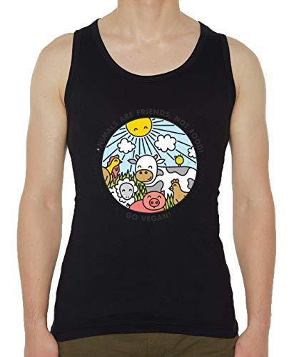 Iprints Animals Are Friends Not Food Vegan Vegetarian Men's Tank Top T-Shirt