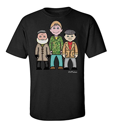Only Fools and Horses Caricature T-shirt, Organic in 3 Colours for Adults