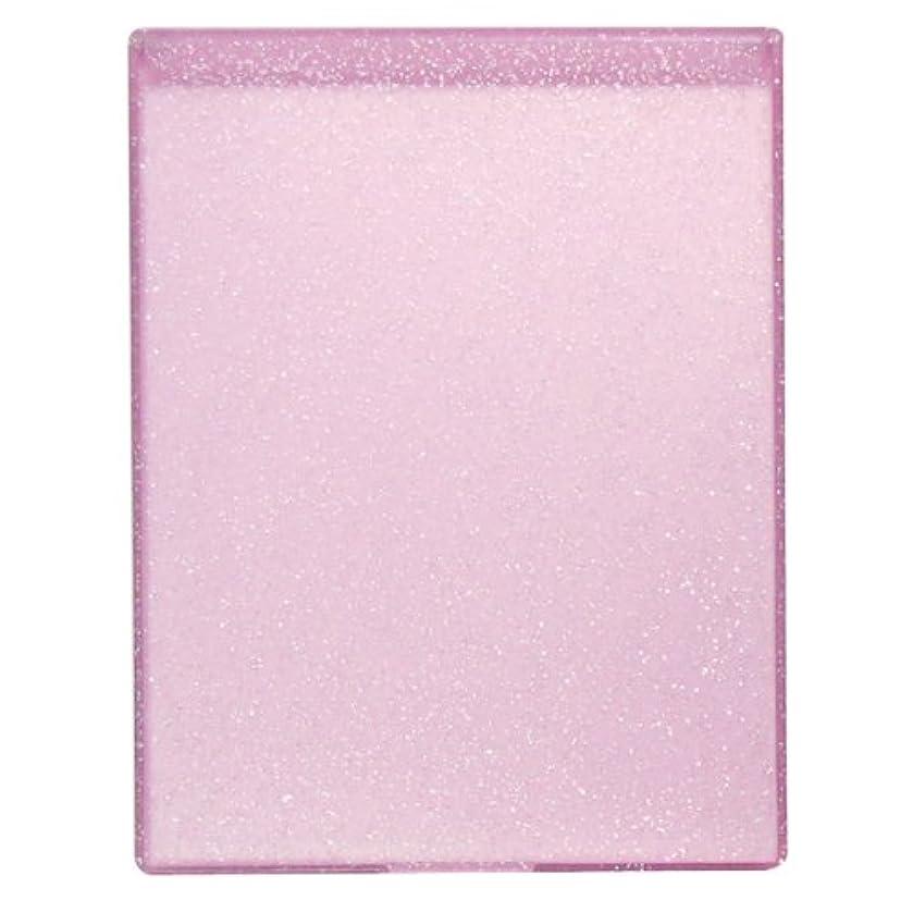 光のマークダウンありそうYLA-900 ラメ入りコンパクトミラーL ピンク