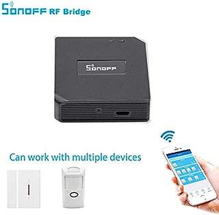 sahnah Sonoff RF Bridge 433MHz Wireless Smart Home Automation Module App Remote Controller Universal Timer WiFi Hub for Garage Door