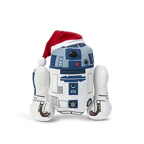 Seven20 Stuffed Star Wars Plush - 9-inch Talking Santa R2D2 Doll - Memorable Droid Movie Plushie - Toy for Toddlers, Kids, and Adults - Licensed Disney Item