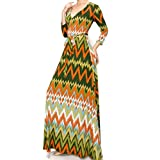 Janette Fashion No Static Faux Wrap Maxi Dress