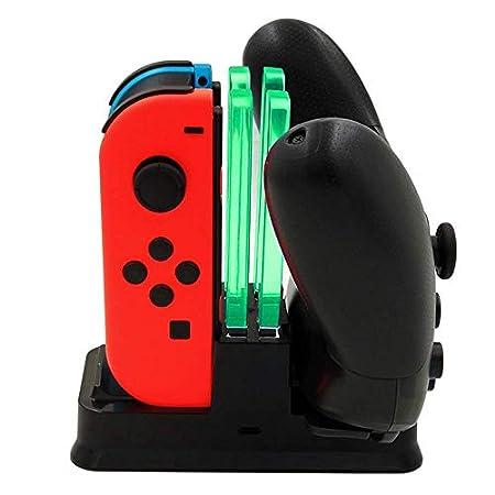 【5/18まで】Zacoco Nintendo Switch Joy-Con / Proコントローラー 最大4台充電スタンド 849円!2000円以上 or プライム会員は送料無料!
