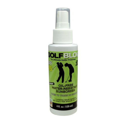 Golf Blok SPF 45 Water Resistant Spray Sunscreen – Sun Protection Sunblock– All Body Sun Block – Sun Screen That Dries Quickly