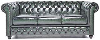 Best dark green leather chesterfield sofa Reviews