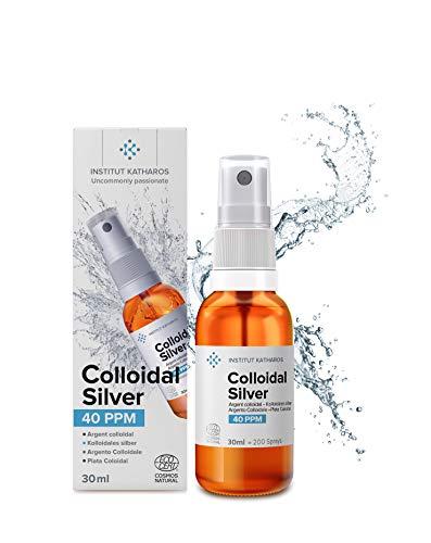 """Kolloidales Silber 30ml Minispray 40 PPM • 100% natürlich • konzentriert, rein, effizient • Ecocert zertifiziert • laut """"Top Santé"""" das beste natürliche Pflegeprodukt 2021 • Institut Katharos"""