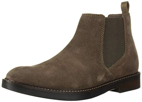Clarks Men's Paulson Up Chelsea Boot, Taupe Suede, 100 M US