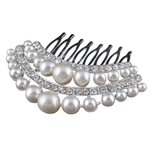 Unbekannt Strass Perlen Haarkamm Silber Prinzessin Hochzeit Braut Schmuck Haarschmuck