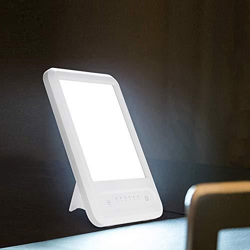 15W Tageslichtlampe 10000 Lux Natürliches Sonnenlicht Led-Lichttherapielampe gegen Depressionen Mit 3 einstellbarer Helligkeit und 4 Timer