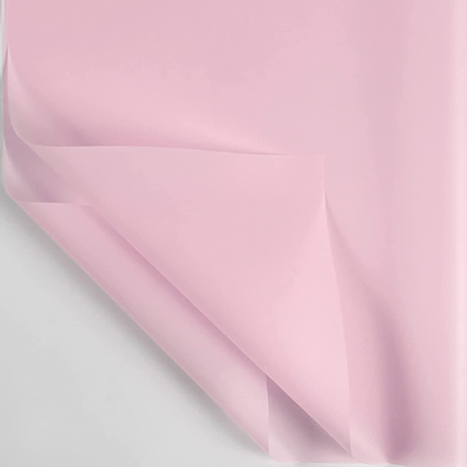 wholesale Pearl Pink San Jose Mall Cellophane Pure Color Flower Pape Waterproof Wrapping