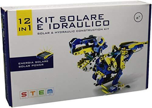 Selegiochi- Kit Solare e Idraulico 12 in 1, Colore Giallo/Blu/Bianco, OW39365