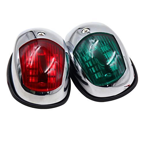 2 Piezas De Luces De Navegación De Proa Marina Verde Y Roja De 12 V - Kayak Para Yate De Barco Luces LED De Popa Bombillas De Lámpara De Señal De Segu