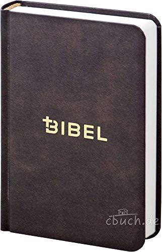 Die Bibel – Schlachter 2000 – Miniaturausgabe (illustrierter fester Einband – Antikleder-Optik)
