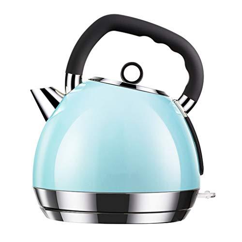 Zfggd Théière électrique en Acier Inoxydable - Rétro cruche 1.8L, 1800W bouillonne Rapidement pour Le thé, Le café et l'ébullition (Color : Blue)