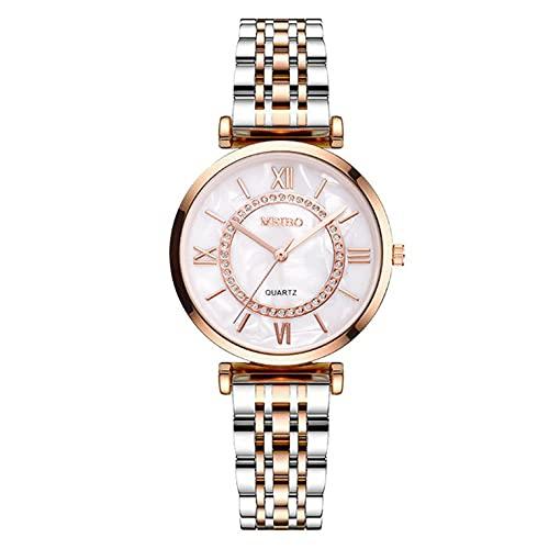 Reloj elegante europeo y americano del cuarzo de la banda del acero inoxidable de la manera del diamante Meticulous del reloj para la mujer