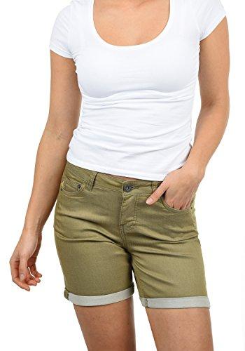 DESIRES Lila Damen Jeans Shorts Kurze Denim Hose Aus Stretch-Material Skinny Fit, Größe:38, Farbe:Aloe (3612)