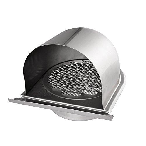 Hon&Guan 100mm Cappe Griglia di Aerazione per Ventilazione in Acciaio Inox