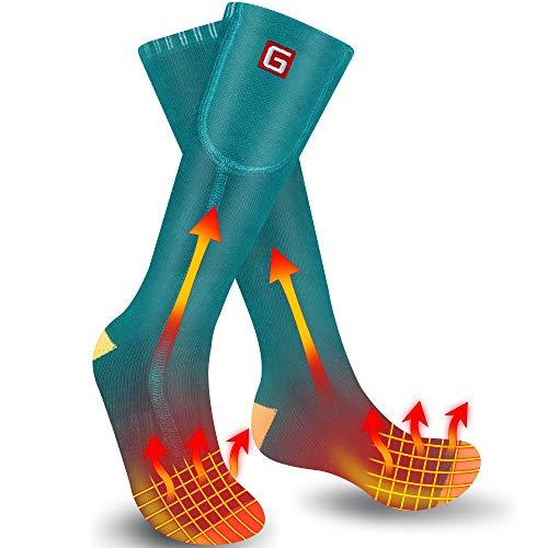 Svpro Calcetines eléctricos Recargables,Calcetines a batería de 4000mAh para Hombres y Mujeres,Calcetines eléctricos Lavables y calefaccionados