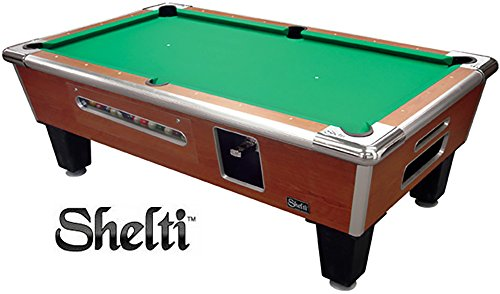 Check Out This Shelti Bayside Coin Op Pool Table-Cherry - 93