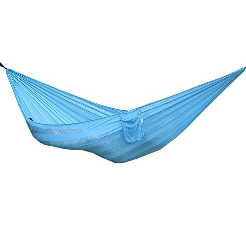 ZHAONAA Peut accueillir Plus de Personnes Hamac à Mailles perméable à l'air, Le Tissu élargissement Oscillation extérieure 230 * 160 cm Sac de Transport Pratique (Color : Sky Blue)
