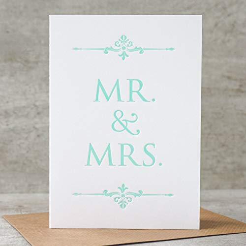 Mr. & Mrs. | Letterpress Karte | Hochzeit, Liebe, Verlobung
