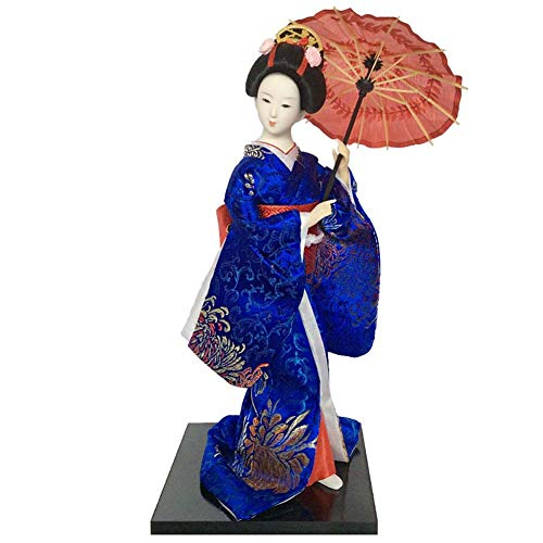 Black Temptation Muñeca Japonesa Kimono Geisha - Regalos / decoración Artesanal de Estilo Nacional, C8