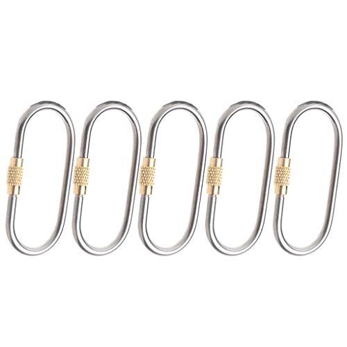 EATAN Leiouser Mini mosquetón de titanio, 5 piezas Mini mos