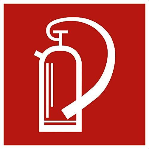 Schild Feuerlöscher gemäß ASR A1.3 / BGV A8 PVC 10 x 10 cm (Feuerlöschgerät, Brandschutz, Hinweis) wetterfest