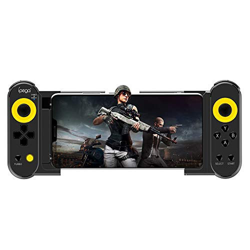 ipega PG-9167 Mobile Game Controller, With Stretchable Wireless 4.0 Smart PUBG Gamepad Controller for Samsung Galaxy S10/S10+ /S20 S20+5G/Huawei Mate40 Pro P40 P30 Android Mobile Smartphone Tablet