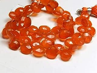 Jewel Beads Natural Beautiful jewellery Carnelian Gemstone Bead, Faceted Pear Briolette. Semi Precious Gemstone 7.5 mm12pcsCode:- JBB-42283