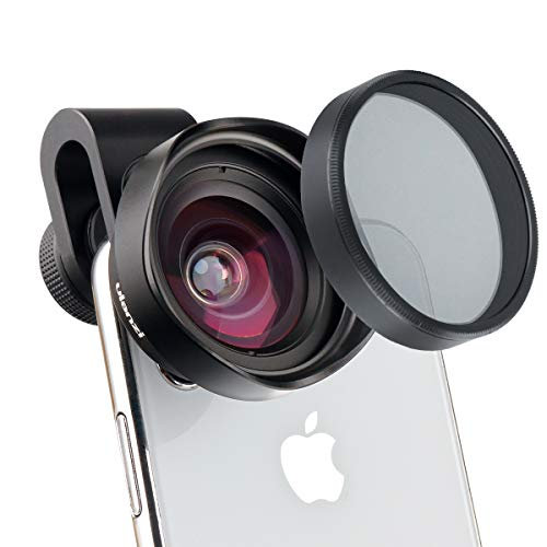 ULANZI 16mm Wide Angle Phone Camera Lens w CPL Filter Universal for iPhone X XR XS Max 8 7 6S Plus Samsung Galaxy S10 S9 Google Pixel OnePlus 7 Pro Xiaomi Android Phones (17mm Clip)