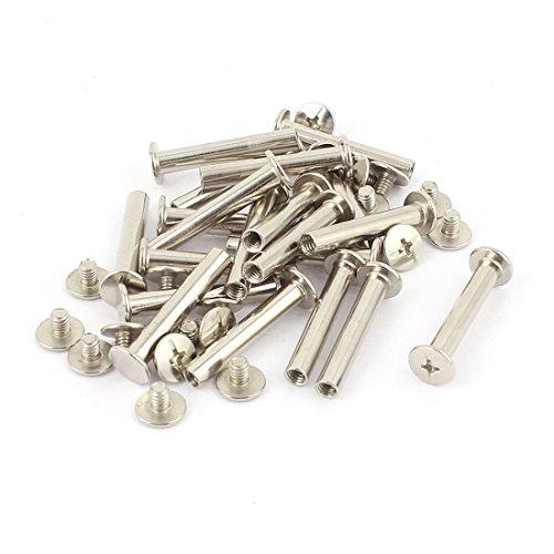 Aexit Scrapbook Werkzeuge Foto Alben M5x 30mm vernickelt Bindung Schraube Rad- & Reifenwerkzeuge Post 20Stück