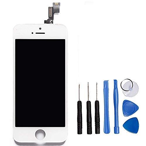 LL Trader Per iPhone 5s Bianco Schermo Parti di ricambio Display LCD Touch Screen lente in vetro kit di trasformazione completo di ricambio + utensili inclusi