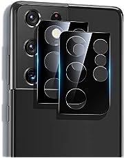 ESR Osłona obiektywu kamery kompatybilna z Samsung Galaxy S21 Ultra (2021), 2-pak, odporne na zarysowania ultracienkie szkło hartowane, czarne