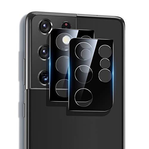 ESR Protector de Lente para cámara Compatible con Samsung Galaxy S21 Ultra 5G (2021), 2 Unidades, Cristal Templado Ultrafino Resistente a arañazos, Negro