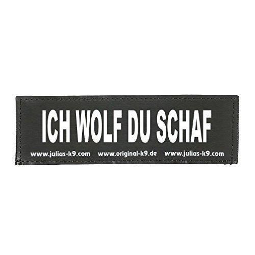 Julius K9 8151573 2 Klettsticker L. Ich Wolf Du Schaf