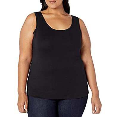 Amazon Essentials Women's Plus size Tank Top, Black, 6X