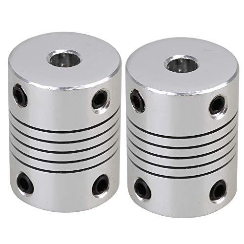 flexible couplings BQLZR 5x8mm D19L25 Flexible Shaft Coupling CNC Stepper Coupler Pack of 2