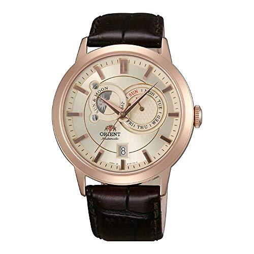 Orient Herren Analog Automatik Uhr mit Leder Armband FET0P001W0
