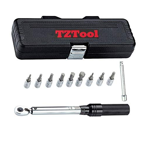 TZTOOL Torque wrench 2-20 Nm + 9 bits + extension