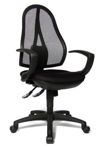Topstar OP20QG20 Open Point SY, Bürostuhl, Schreibtischstuhl, ergonomisch, inkl. Armlehnen, Stoffbezug, schwarz