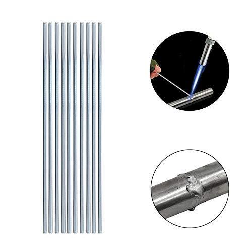 Soldadura de aluminio Soldadura fuerte Soldadura Varillas de reparación de grietas Soldadura, electrodos de aluminio a baja temperatura No requieren polvo de soldadura para soldar (1.6mm, 20pcs)