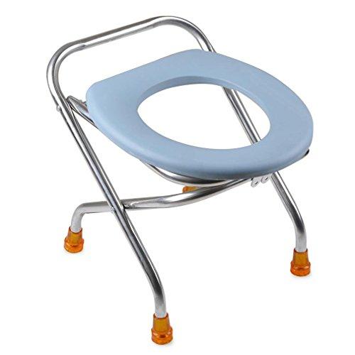 Heruai Falten verdickte Schwangere Frau WC-Stuhl der ältere sitzen Stuhl Hocker WC-Stuhl Patienten Hocker Edelstahl