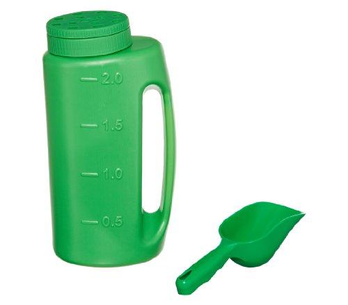 Dehner Strooidoos, container voor strooigoed incl. schep, 0,2 kg, groen