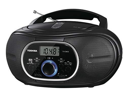 東芝CDラジオ Bluetooth搭載 横型コンパクト TY-CW10(K) ブラック