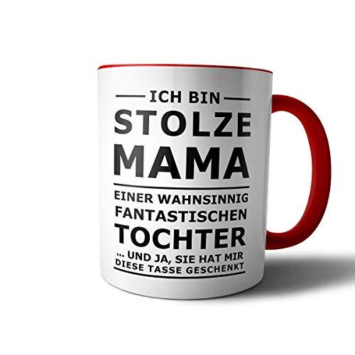 Geschenkedirekt Tasse mit Spruch STOLZE MAMA Kaffeetasse Kaffeebecher Kaffeepot Frühstückstasse Bürotasse, Motiv:Motiv 10