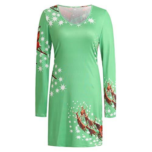 BOLANQ Damen elegant 50er Jahre Petticoat Kleider Gepunkte Rockabilly Kleider Cocktailkleider(Large,Grün)