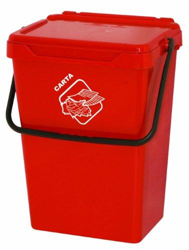 Art Plast BS35 – Conteneur de déchets pour la séparation de déchets, en plastique, couleur : rouge