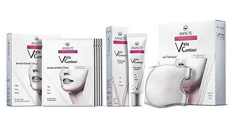 Face V-line de la barbilla hacia arriba Levante adelgaza la correa, crema cuello de línea más delgado y 5 - Máscaras para la flacidez papada